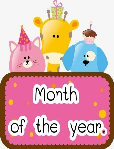 Month of the year.