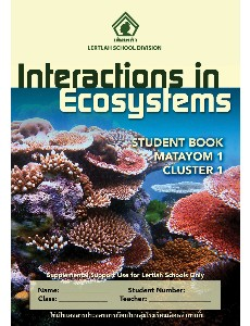 M1 Science Cluster 1 Interactions in Ecosystems