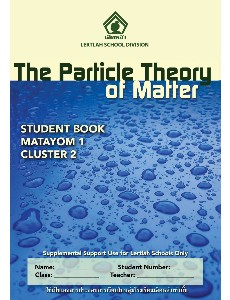 M1 Science Cluster 2 The Particle Theory of Matter